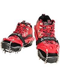 Heavy Duty Trail Spikes 14-Spikes Ice Grip Snow Cleats Footwear Crampons for Walking, Jogging, or Hiking on Snow and Ice
