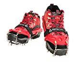 Yatta Life Heavy Duty 14-Spikes Trail Spike Ice Grip Snow Cleats Footwear Crampon for Walking, Jogging, or Hiking on Snow and Ice
