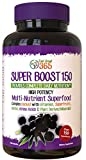 Super Daily Boost 150 Capsules – Super High Quality Immune System Support Booster – Promotes Super Immunity, Energy & Mental Focus – A Complete Blend of 150+ Vitamins, Minerals, Antioxidants & More