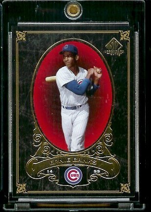 - 2007 Upper Deck SP Legendary Cuts # 16 Ernie Banks - Cubs - Baseball Trading Card