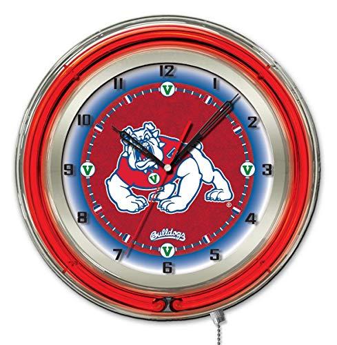 Glass Ncaa Clock - Holland Bar Stool Co. Fresno State 19