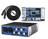 Presonus Audiobox USB DAW Recording Bundle with Studio One Artist Recording Software and 10ft LYX LCS Premium XLR Cable
