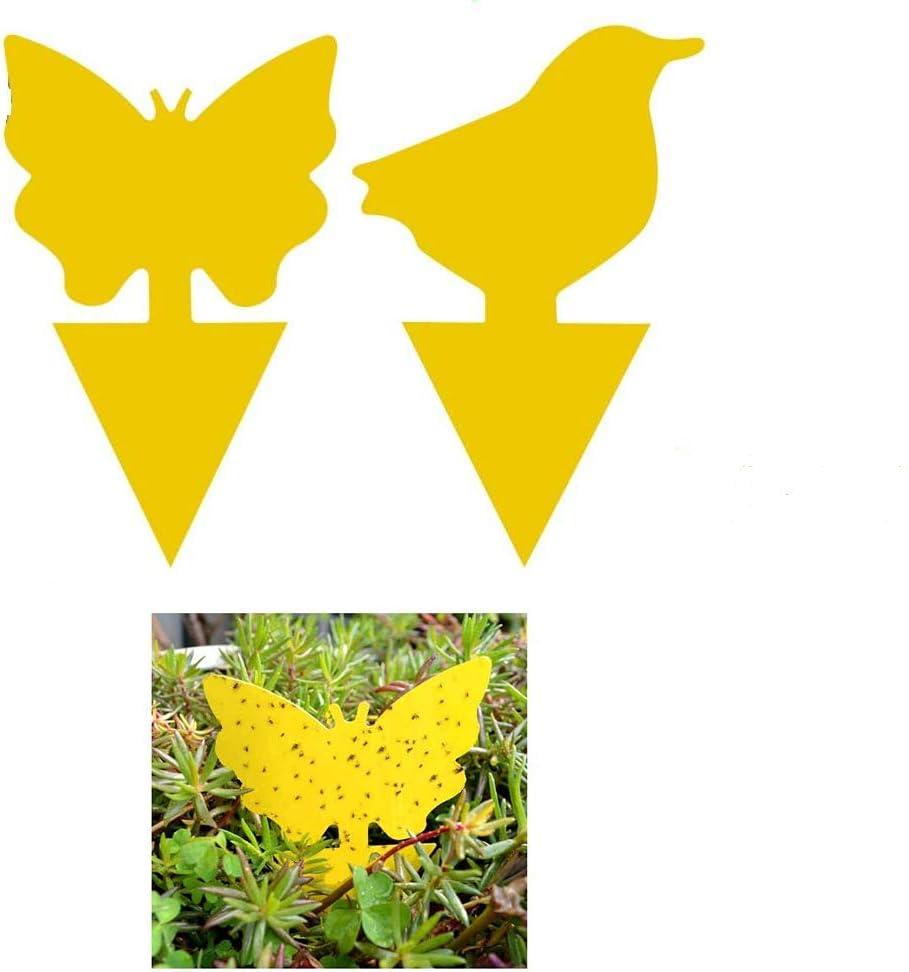 50 Pack Trampas pegajosas Amarillas de Doble Cara para Insectos voladores como Hongos Mosquitos, áfidos voladores, Moscas Blancas, mineros de Hojas, Otros Insectos voladores (Amarilla)