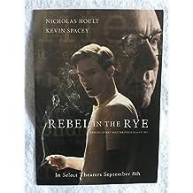 """REBEL IN THE RYE - D/S Original Movie Postcard 5""""x7"""" 2017 Nicholas Hoult Kevin Spacey J.D. Salinger"""