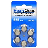 Hearclear Size 675 Hearing Aid Battery 60 Batteries