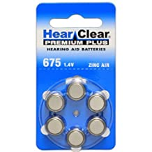 Hearclear Hearing Aid Batteries Size 675 60 Batteries