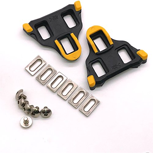 Thinvik Road Bike Cleats 6 Degree Float Self-locking Cycling Pedals Cleat For Shimano SH-11 SPD-SL System (Bike Pedal Systems)