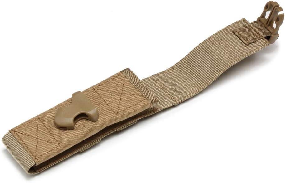 Balight Durevole Impermeabile Luce della Torcia Fondina 1000D Nylon Custodia Molle Clip da Cintura Caccia Campeggio Chiavi Strumenti