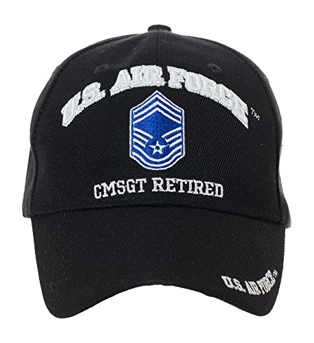 Artisan Owl Officially Licensed US Air Force Retired Baseball Cap - Multiple Ranks! (Chief Master Sergeant)
