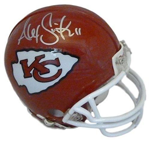 Alex Smith Autographed Kansas City Chiefs Mini Helmet in Silver ()