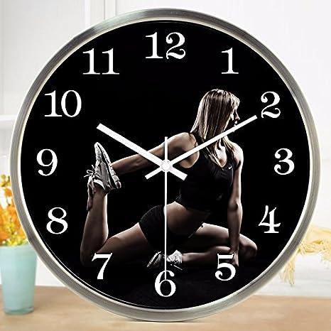 Reloj de pared Wuulii Decor-The Gran Gimnasio Sala de Ejercicio la Pérdida de Peso