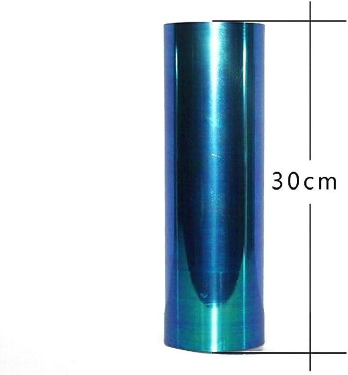 Niome Reflective Car Tint Film Headlight Taillight Fog Lights Side Marker Lights Windshield Light Sticker 60cmX30cm Transparent