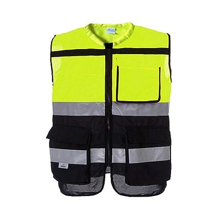 Color : G, tamaño : M Chaleco Reflectante Chaleco de Seguridad Ropa de tráfico Conductor Ropa Reflectante Construcción Nocturna Saneamiento Ropa Fluorescente Equipos e indumentaria de seguridad