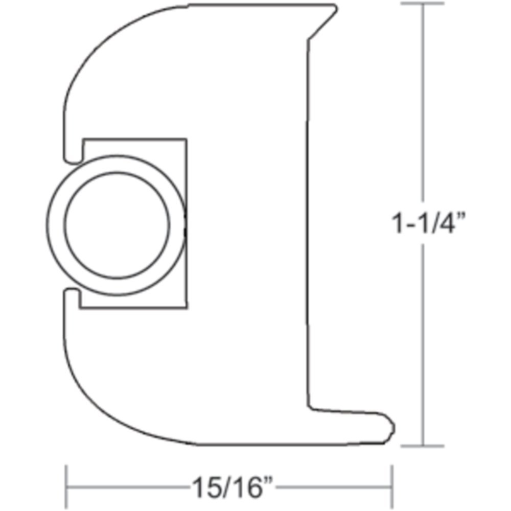 TACO V11-3447WWK50-2 Flex Rub Rail Kit Vinyl 50 White With Insert Marine RV Boating Accessories by Taco Metals