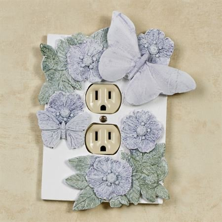 Craft Tex /Ladybug/Phase Iv Flowers and Butterflies Single Outlet Cover Butterfly Decor