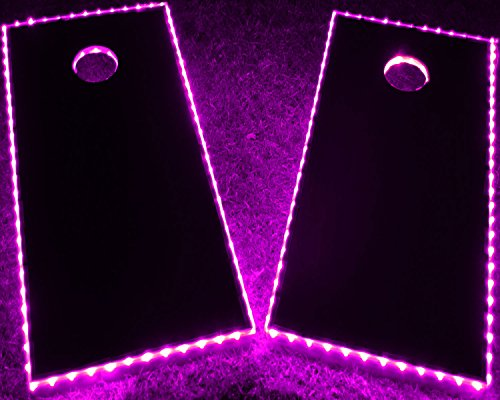 GlowCity LED Cornhole Board Lights - Ultra Bright Lights for Corn Hole and Board, Fits 2 x Boards - Waterproof and Durable Cable Ideal for Family Outdoor Games or Backyard Glow in The Dark Fun (Pink)