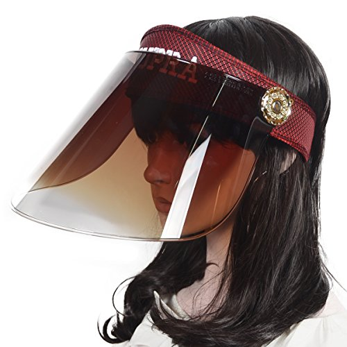 Women Summer Sunhat Solar Face Shield Cap Visor Sun Cover Hat Anti-UV Cap (Claret) ()