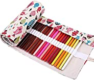 Colored Pencils Wrap, TopRay Large Capacity Coloured Pencils Roll Up Canvas Pencil Bag Pouch Holder for Artist