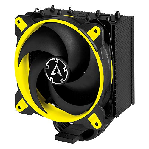 Price comparison product image ARCTIC Freezer 34 Esports Edition - Tower CPU Cooler with Push-Pull Configuration I Silent 3-Phase-Motor and Wide Range of Regulation 200 to 2100 RPM - Includes Low Noise PWM 120 mm Fan – Yellow