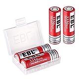 EBL 3350mAh Li-ion Rechargeable Battrey 20650 for UVR Drone Batteries, 4 Packs