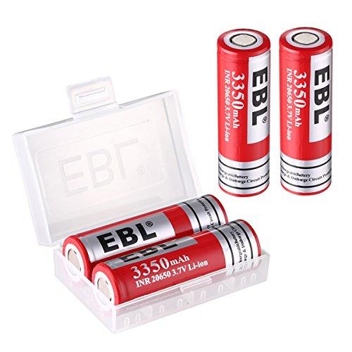 - EBL 3350mAh Li-ion Rechargeable Battrey 20650 for UVR Drone Batteries, 4 Packs