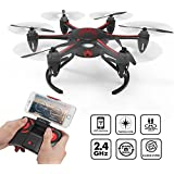 Techrc TR005 RC Drone WIFI Version FPV Quadcopter with Camera Live Video Hexacopter Headless Mode with Low Voltage Warning & Altitude Hold - Black