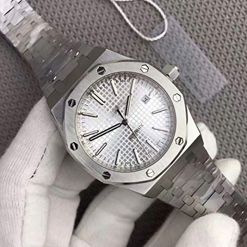Luxury Brand Stainless Steel Silver Color White dial Automatic Movement Oak Watch -
