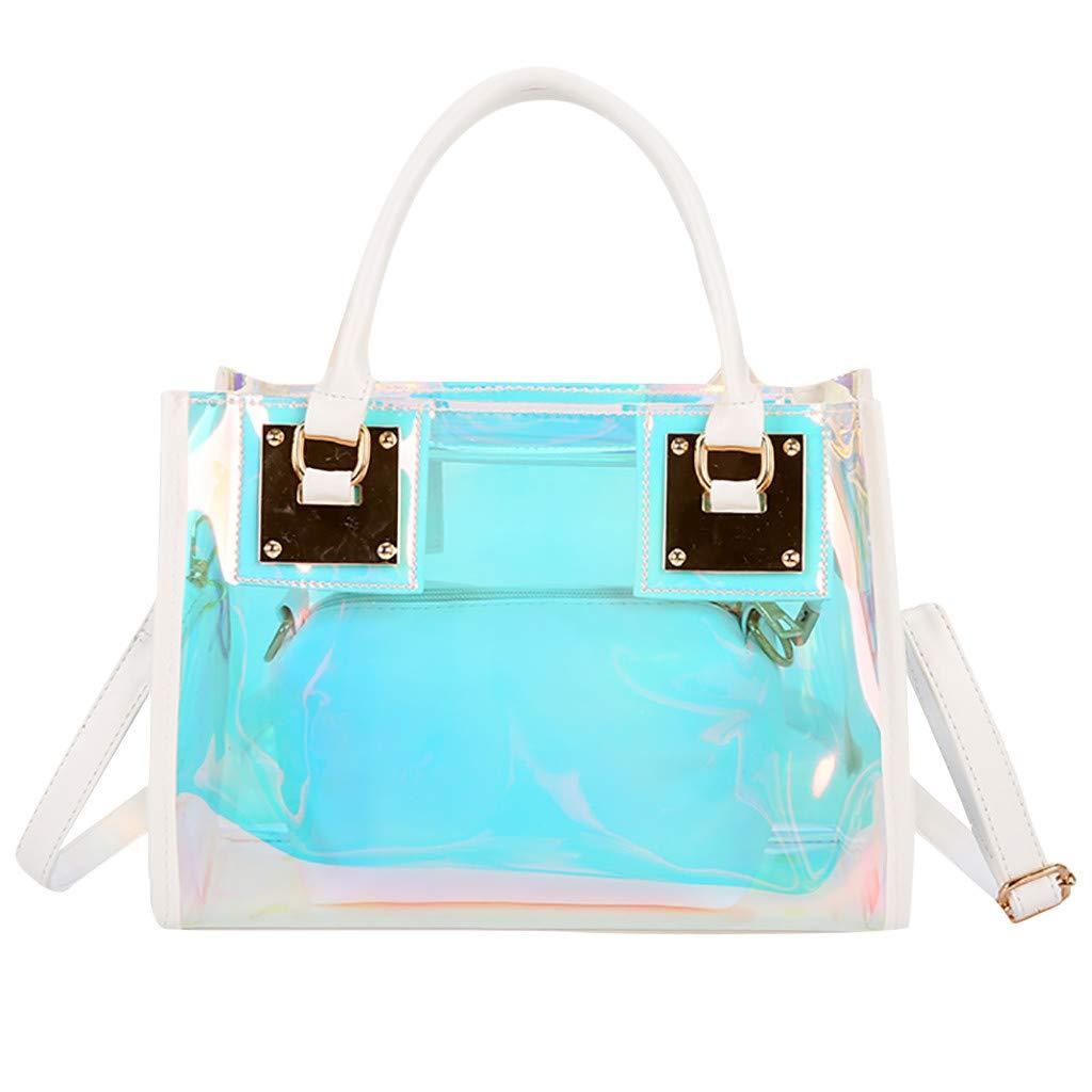 SMILEQ Bolso de Mujer multifunción Color Messenger Bag Bandolera ...