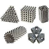 Confezione di 216argento magnetico al neodimio ferro puzzle palle decorative 5.0mm Cube Block Toy (confezione regalo inclusa)