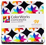 Colorworks Concepts Charm Pack, 42 - 5'' Quilt Squares by Northcott
