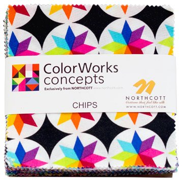 Colorworks Concepts Charm Pack, 42 - 5'' Quilt Squares by Northcott by Northcott