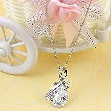 Clearance Crystal Necklace,Han Shi Women Luxury Rhinestone Pendant Chain Elegant Jewerly