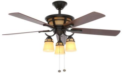 Hampton Bay Alicante 52 in. Natural Iron Ceiling Fan-58004 - The Home Depot