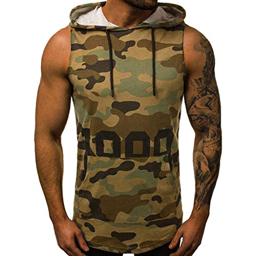 Shirts Borat Tee - Men's Summer New Camouflage Hat Vest Fashionable Personality Cap Comfortable Top