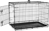 Image of AmazonBasics Single-Door Folding Metal Dog Crate - 36 Inches