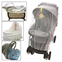 Crocnfrog Mosquito, insect Net, Netting for Strollers, Carriers, Cradles, Car...