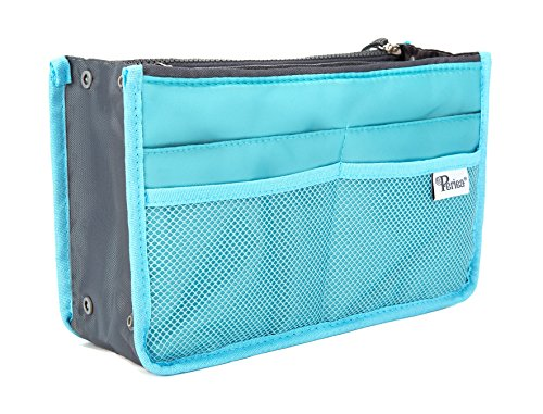 Periea Handbag Organizer - Chelsy (Large, Bright Blue) (Best Beach Bag Ever)