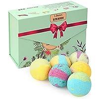 Liberex Boules de Bain Effervescentes - Kit de Bombes de Bain Multicolores Bio pour Homme Femme Enfant, Spa Luxueux, Bain Moussant Senteur Relaxante, 6X100G
