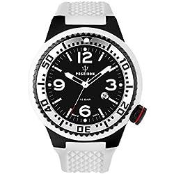 Kienzle Poseidon Men's XL Black Pro Watch - Black & White