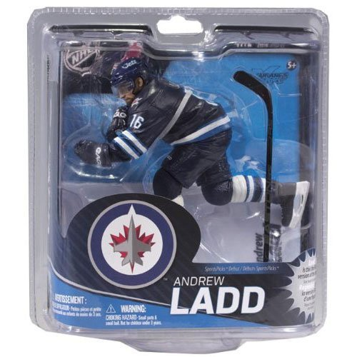 McFarlane Sportspicks: NHL Series 31 Andrew Ladd - Winnipeg Jets Bronze LEVEL VARIANT Blue Jersey Action Figure