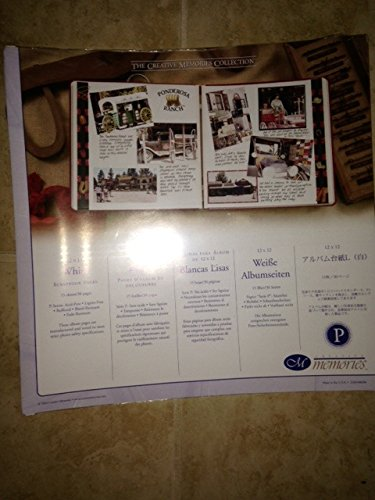 """The Creative Memories Collection White Scrapbook Refill Pages 12"""" X 12"""" (2004 Discontinued ORIGINAL SIZE) from Creative memories"""