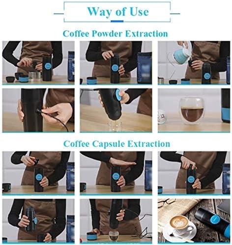 Machine à café portable, un mode Bouton, Compatible avec Nespresso Capsule, Machine for Camping électrique, machine à café for la conduite, Voyage KNDTA
