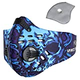 Pioneeryao Sport Dust Mask Cycling Running Outdoor Face Mask Starter Training Mask for Men and Women (Blue)