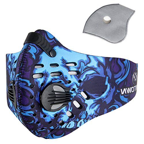 - Pioneeryao Sport Dust Mask Cycling Running Outdoor Face Mask Starter Training Mask for Men and Women (Blue)