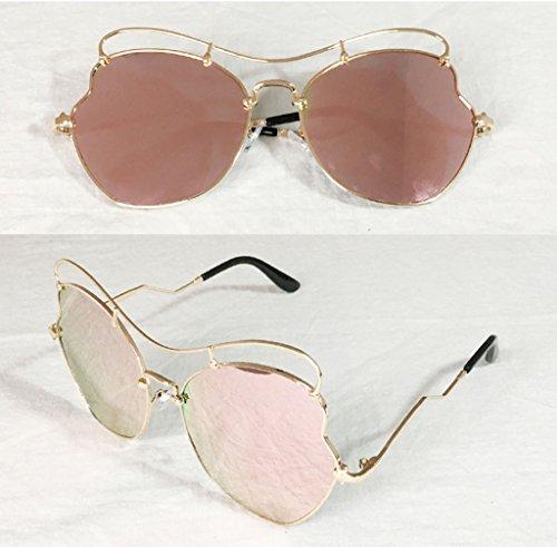C de Mesdames UV Retro des coréen Lunettes Glasses E Lunettes X882 Couleur Lunettes de Frame Soleil Soleil Ytqqa5