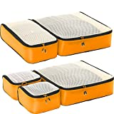 eBags Ultralight Travel Packing Cubes - Lightweight Organizers - Super Packer 5pc Set - (OrangeYellow)