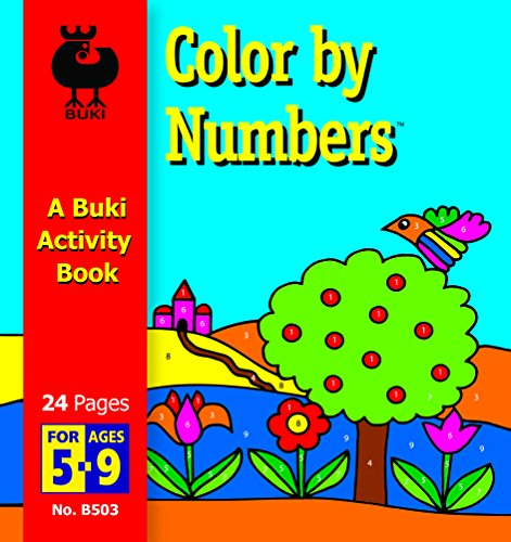 Buki Activity Book Color by Numbers, Styles May Vary