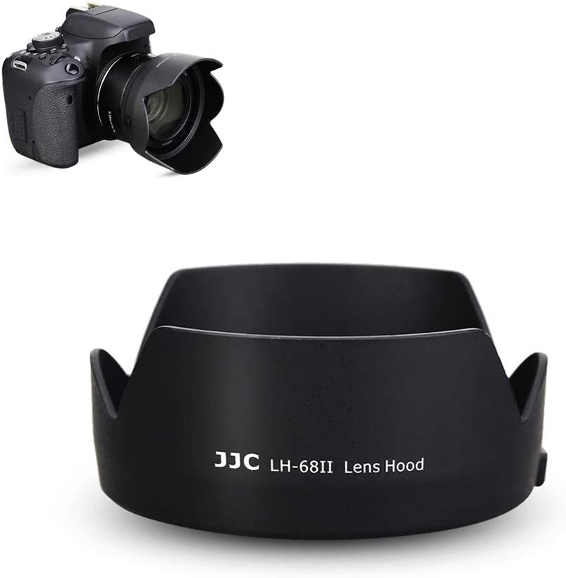 50mm Reversible Lens Hood Shade Fit for Canon EF 50mm f/1.8 STM Lens Replaces Canon ES-68 Hood Tulip Flower Design -Black