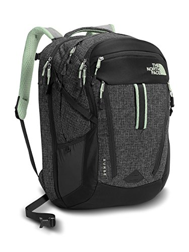 Women's The North Face Surge Backpack Asphalt Grey Dark Heather/Subtle Green Size One Size