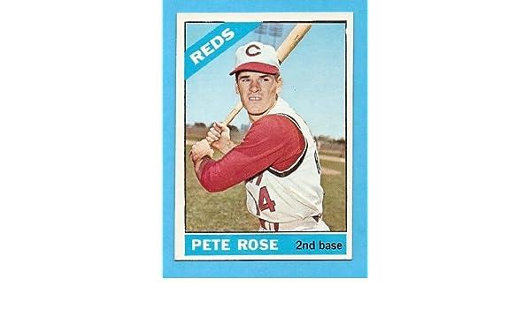 1966 Topps Pete Rose 30 Cincinnati Reds Nrmt Near Mint
